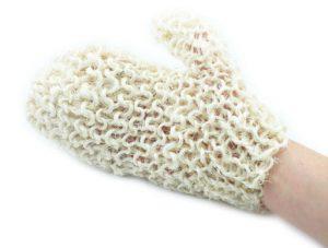 naturalna szorstka rękawica